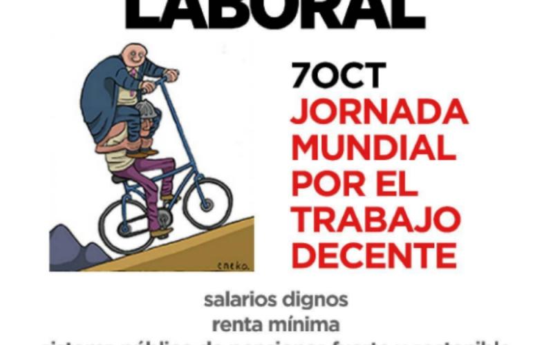 Día del Trabajo Decente: por empleo de calidad con salarios dignos y un sistema fuerte de pensiones