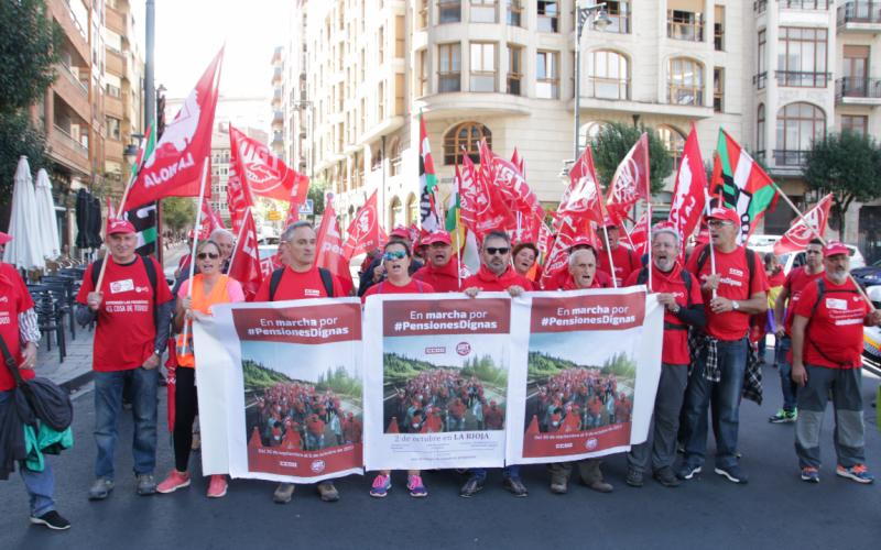 La Marcha por las Pensiones Dignas llega a Logroño
