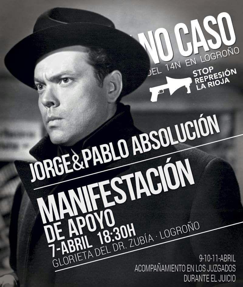 Manifestación apoyo No caso 14N