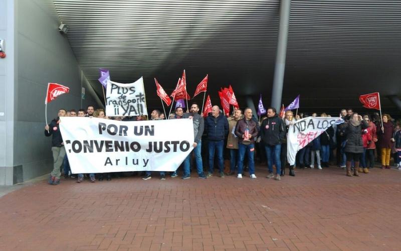 Los trabajadores de Arluy salen a la calle por un convenio justo