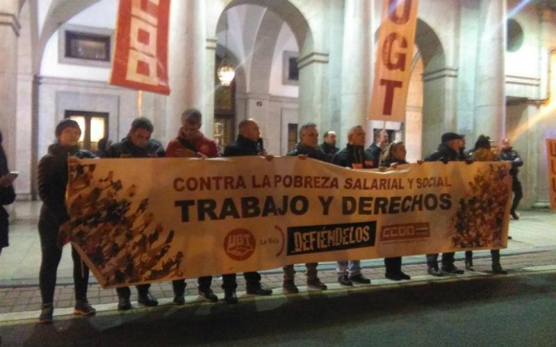 'Por la recuperación de los derechos perdidos'