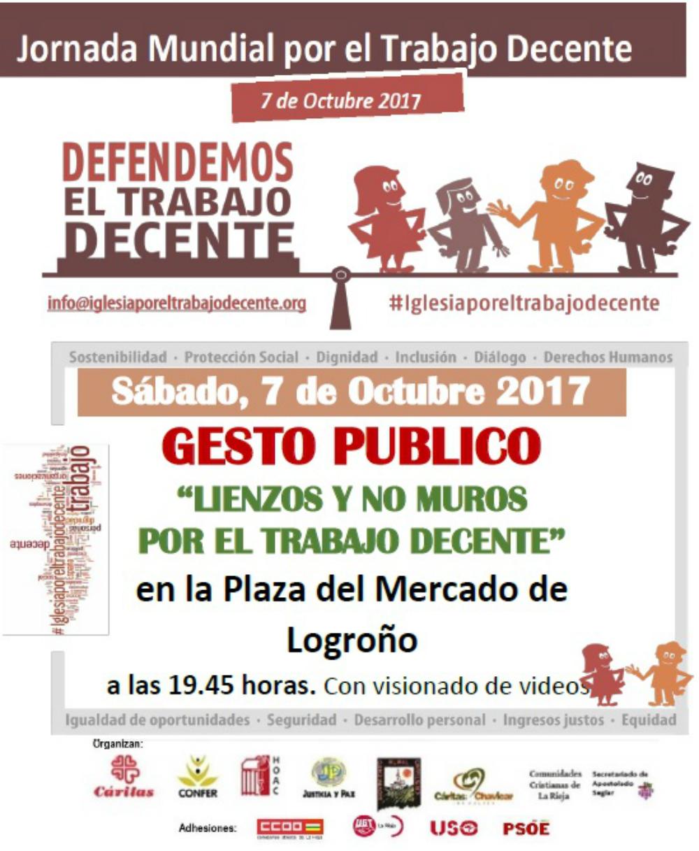 7 de Octubre Gesto Publico