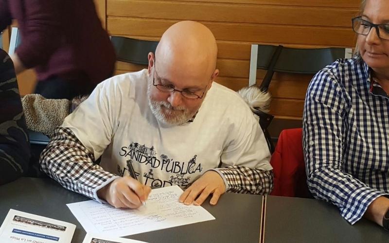 La sociedad riojana firma una declaración en favor de la sanidad pública