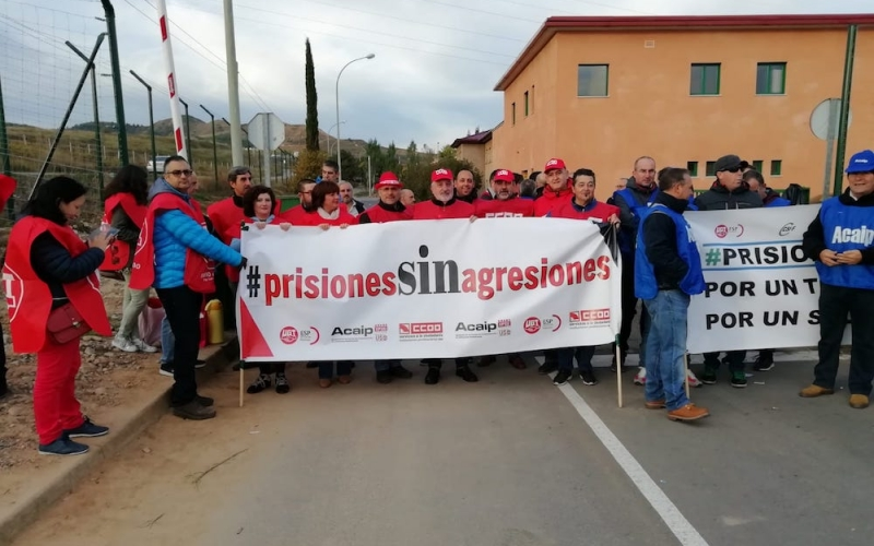 Segunda jornada de huelga en la cárcel de Logroño