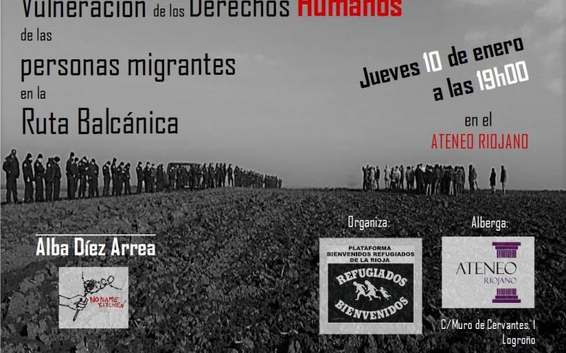Conferencia sobre la violación de los Derechos Humanos de las personas migrantes en la Ruta Balcánica