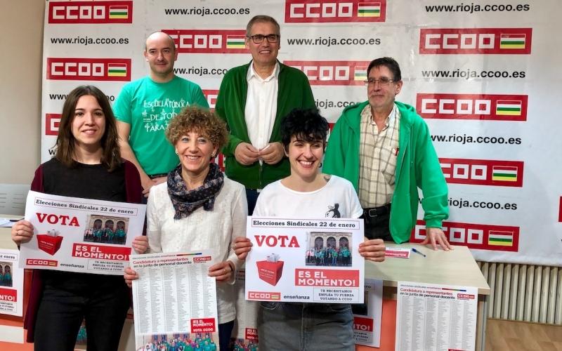 CCOO vuelve a ganar las elecciones sindicales de la Enseñanza Pública en La Rioja