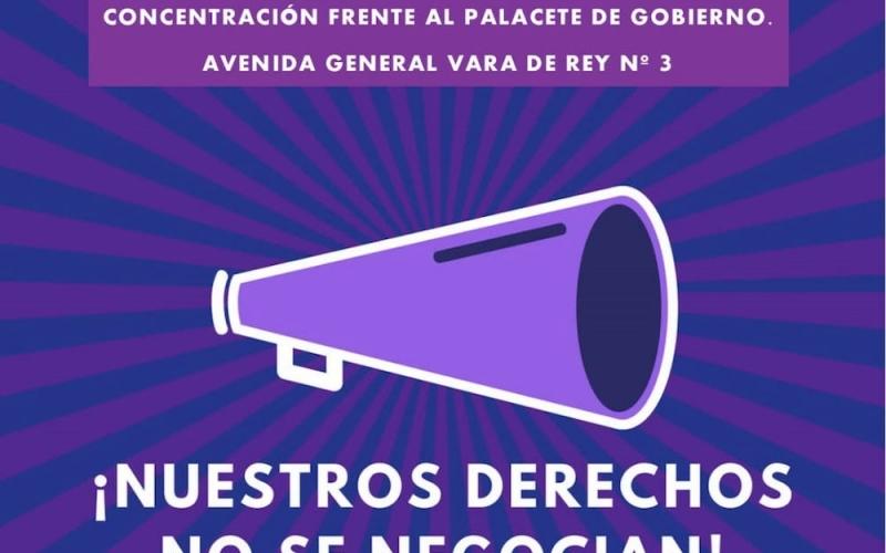CCOO apoya la concentración feminista de este martes frente al retroceso de derechos y contra la violencia machista