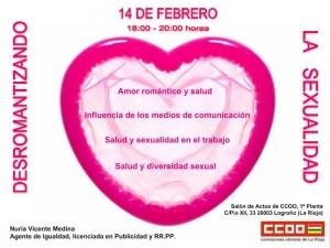 Cartel charla Desromantizando la sexualidad