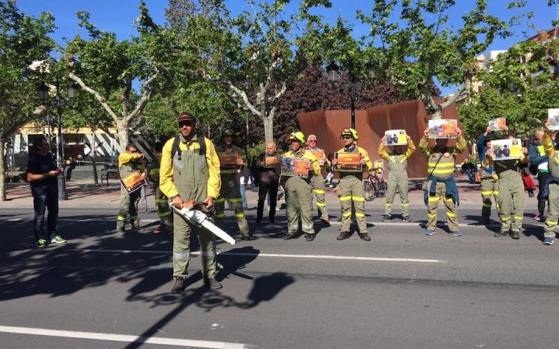 Los Bomberos Forestales piden que se aplique el convenio colectivo