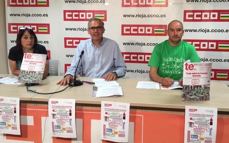CCOO denuncia que la Consejería de Educación no ha contado con los representantes del profesorado para la convocatoria de oposiciones
