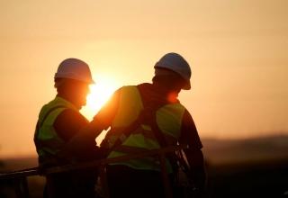 Trabajadores del sector de la construccion