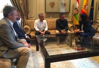 Reunión de la presidenta del Gobierno de La Rioja, Concha Andreu, con Jorge Ruano, secretario general de CCOO