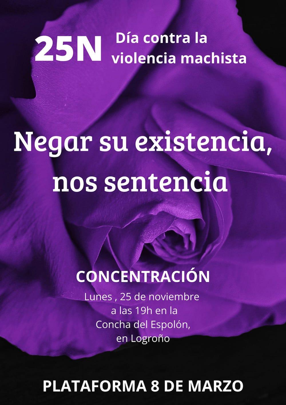 CONCENTRACION VIOLENCIA MACHISTA
