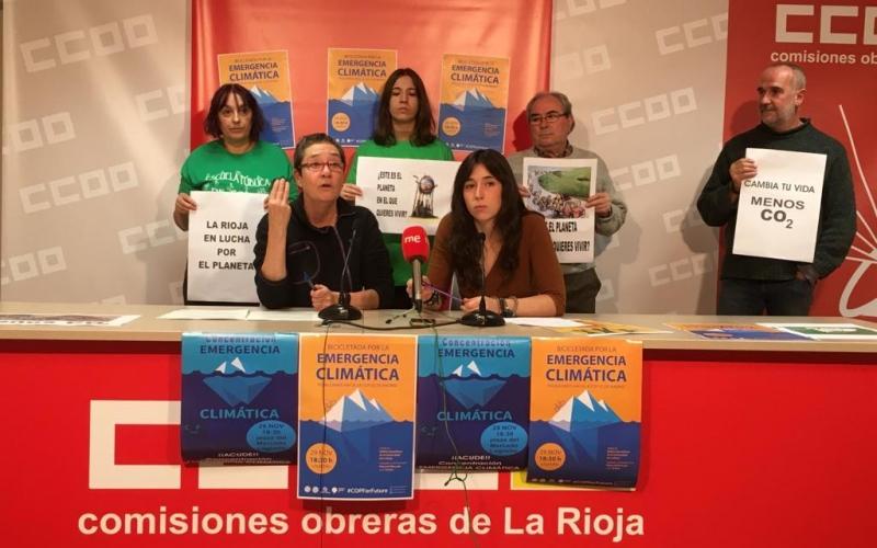 Colectivos riojanos acudirán a Madrid para exigir compromisos contra el cambio climático