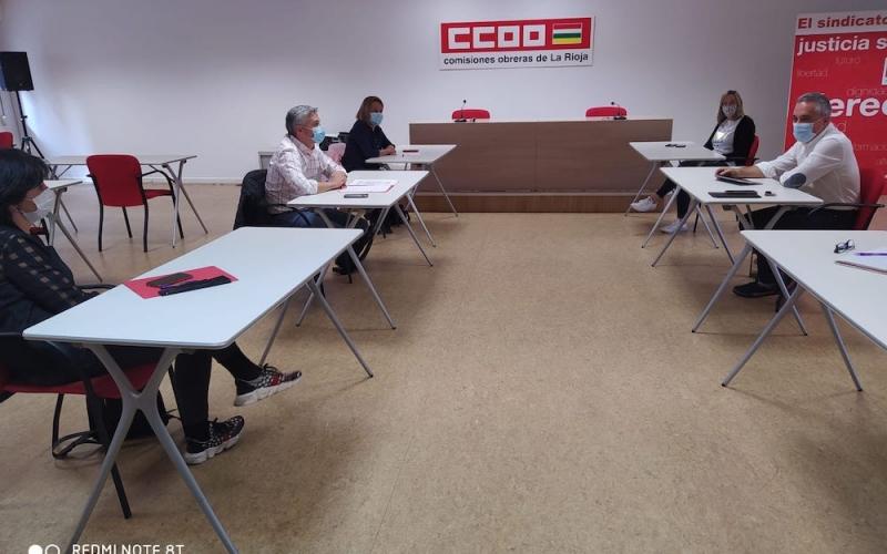 CCOO insiste en que la literalidad del acuerdo de Gobierno en La Rioja se ha visto superada por la actual situación