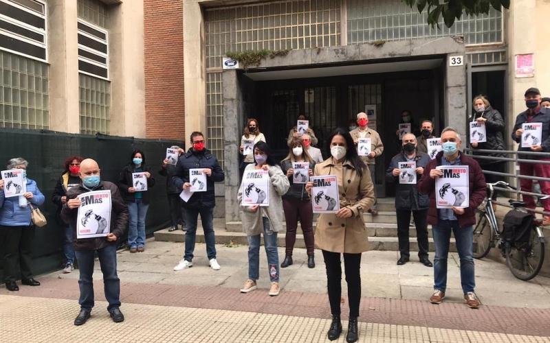 Concentración por el fallecido en accidente laboral en Calahorra