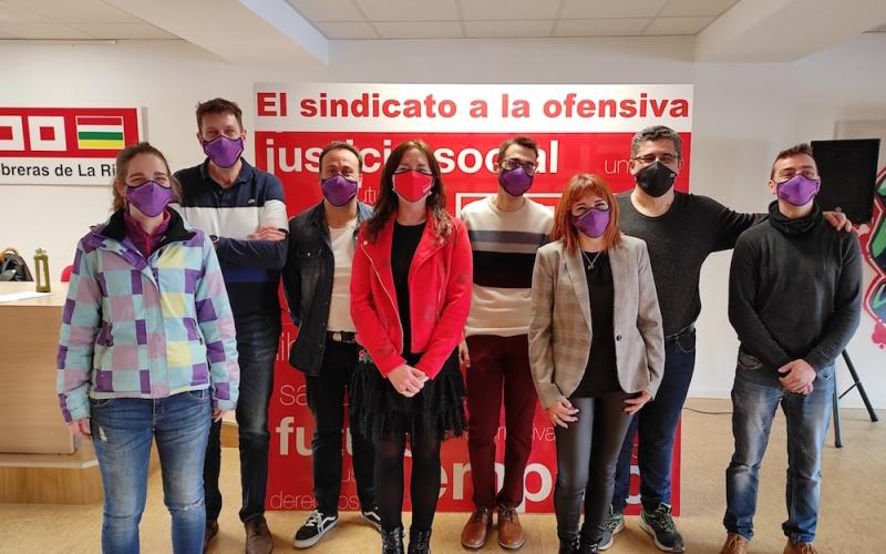 Rodrigo Alfaro reelegido como secretario general CCOO de Industria de La Rioja