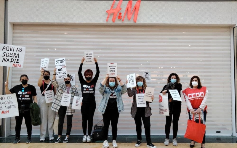 Continuamos movilizándonos en H&M los días 19 y 21 de mayo por la defensa de los puestos de trabajo y condiciones laborales