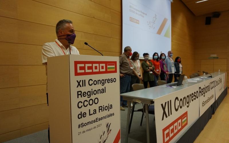 Jorge Ruano es reelegido secretario general de CCOO de La Rioja