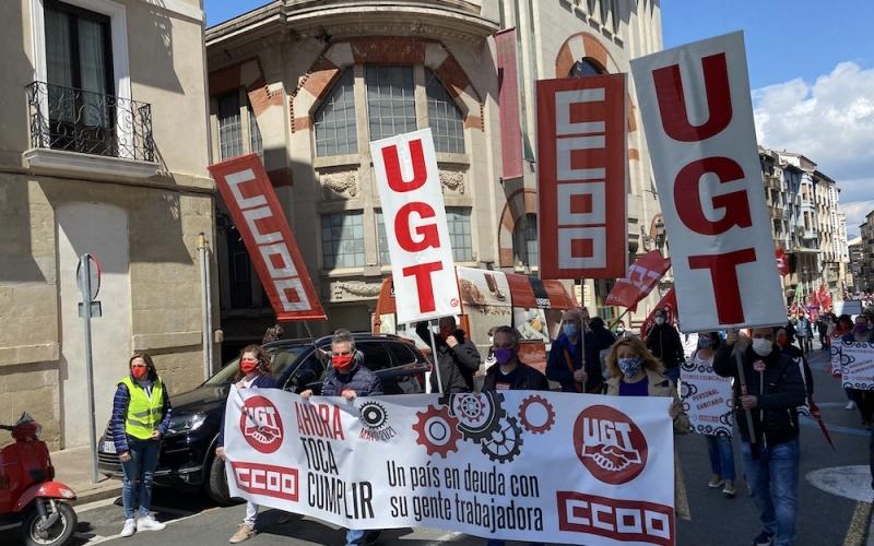 CCOO vuelve a la calle este Primero de Mayo para exigir que se retome la agenda social