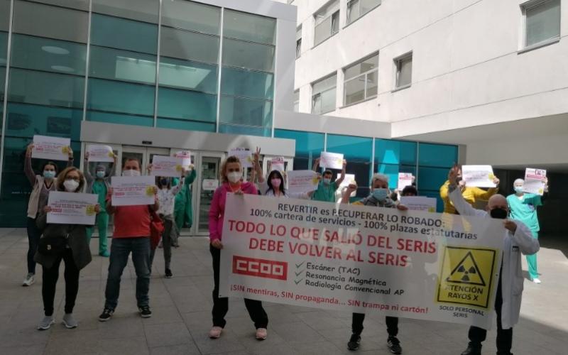 Los profesionales del servicio de Radiología del SERIS exigen al Gobierno regional el cumplimiento de su compromiso de 'reversión' al SERIS de los servicios privatizados