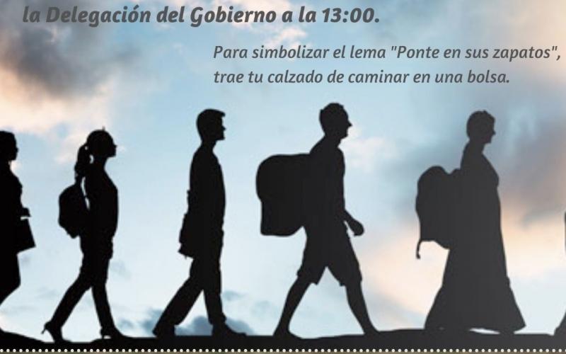 Concentración por el Día Mundial de las Personas Refugiadas