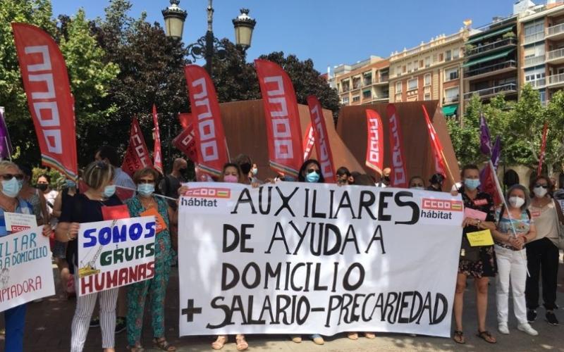 CCOO exige la mejora de las condiciones laborales y salariales de las trabajadoras del Servicio de Ayuda a Domicilio